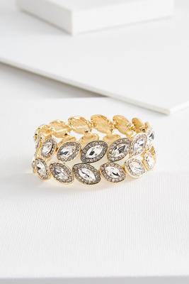 marquise stone stretch bracelet
