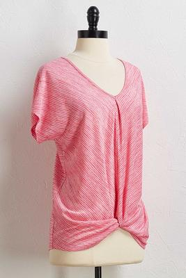 pink mitered stripe top