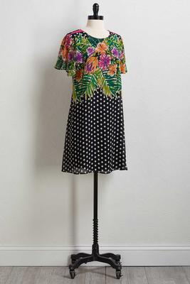 floral dot shift dress
