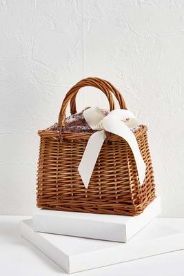 floral fabric basket bag