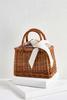Floral Fabric Basket Bag
