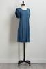 Blue Flutter Sleeve Dress