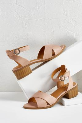criss cross ankle strap sandal