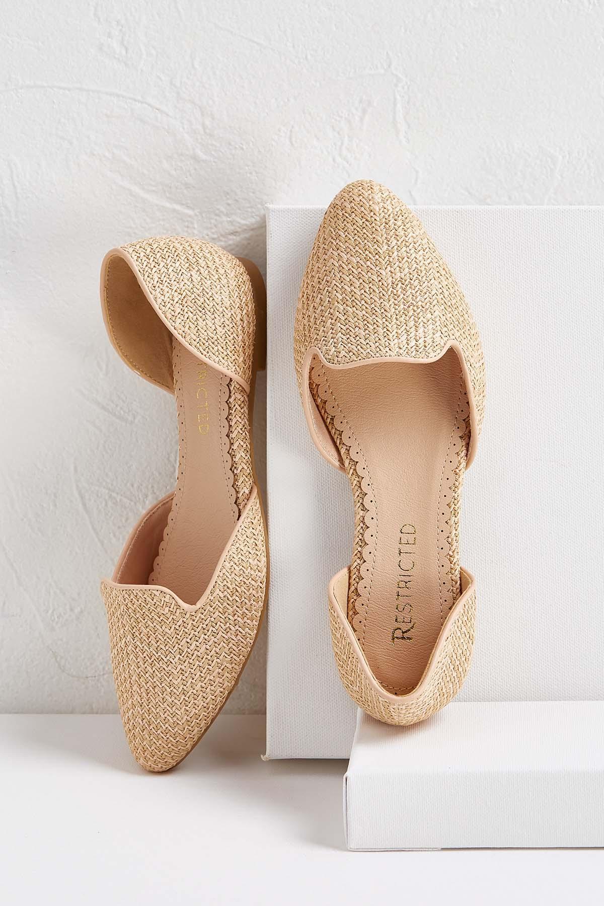 Raffia Weave Flats