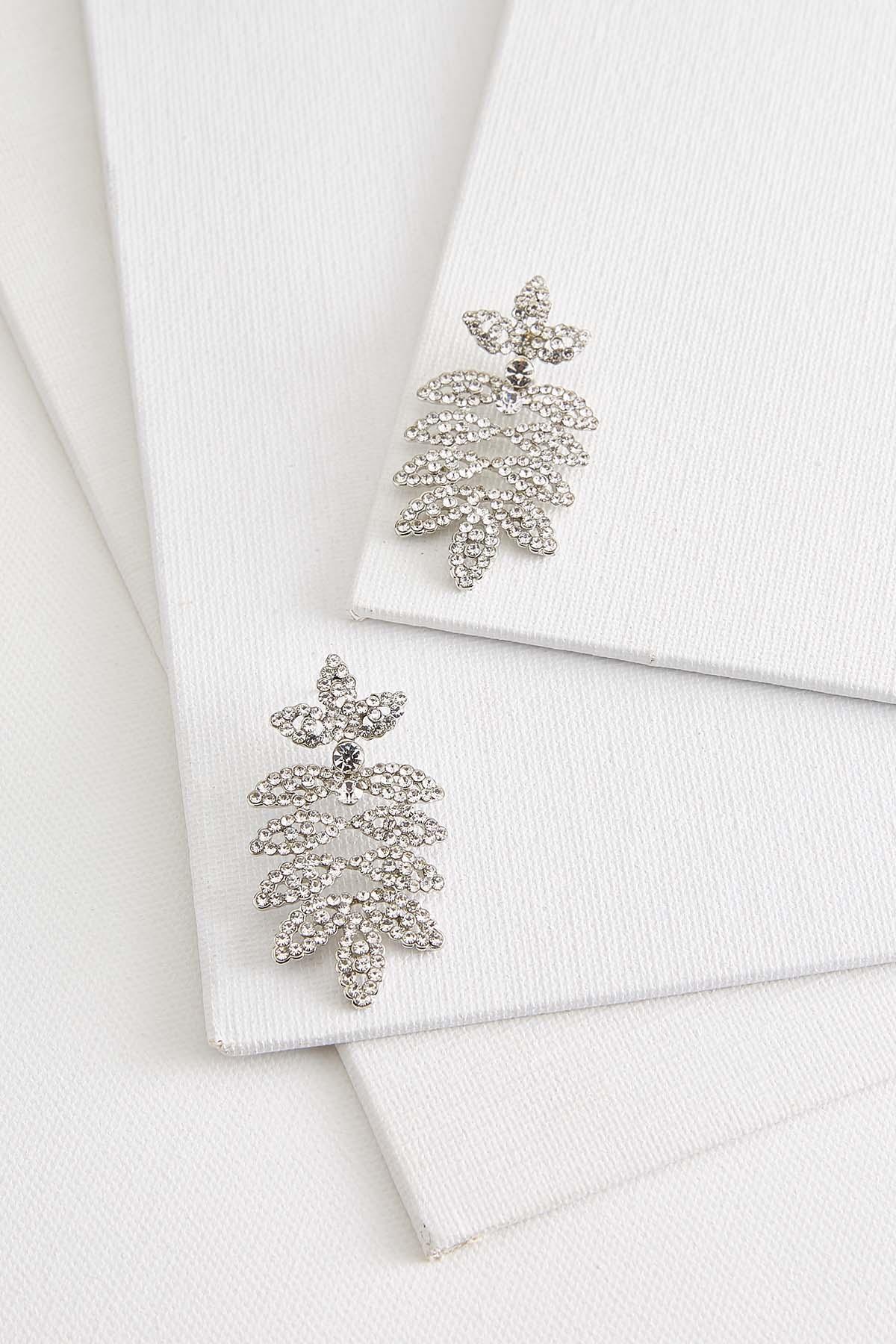 Stone Leaf Chandelier Earrings