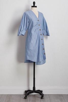 striped button down shirt dress