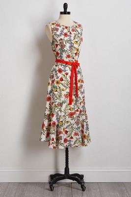 garden floral midi dress