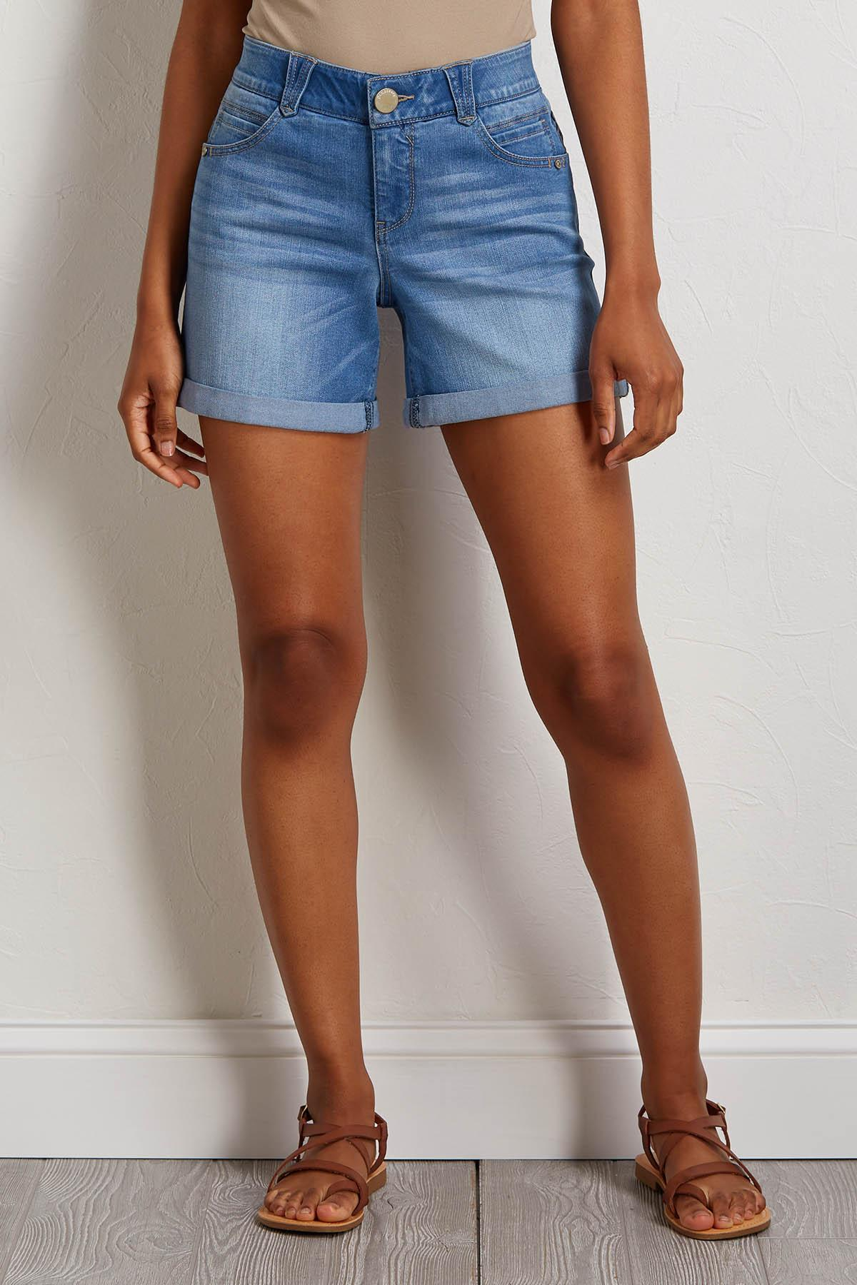Slimming Denim Shorts