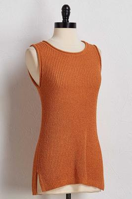 stretch sweater tank