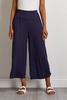 Navy Cropped Ruched Hem Pants