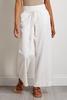 Ivory Drawstring Linen Pants