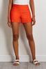 Orange Pull- On Shorts