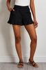 Black Ruffled Shorts