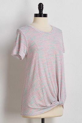 hacci stripe twisted tee