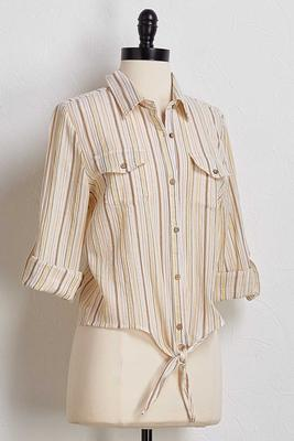 golden metallic stripe shirt