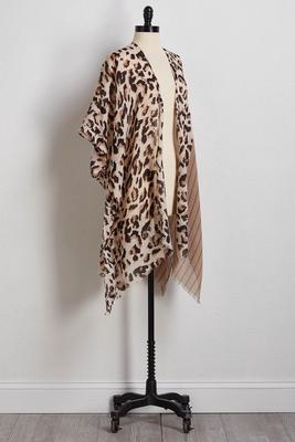crosshatch leopard kimono