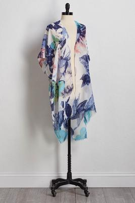 floral flyaway kimono