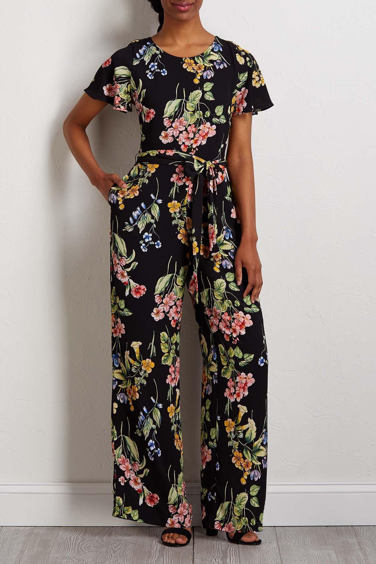 Floral Crepe Jumpsuit