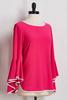 Popping Pink Flutter Sleeve Top