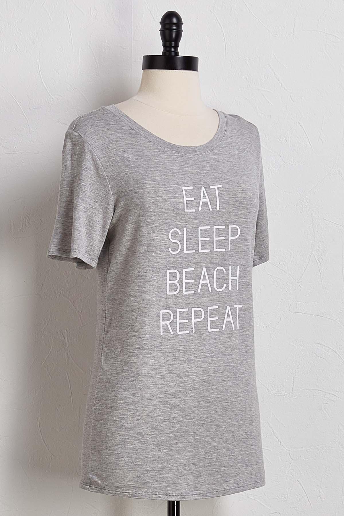 Eat Sleep Beach Repeat Tee