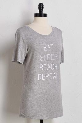 eat sleep beach repeat tee