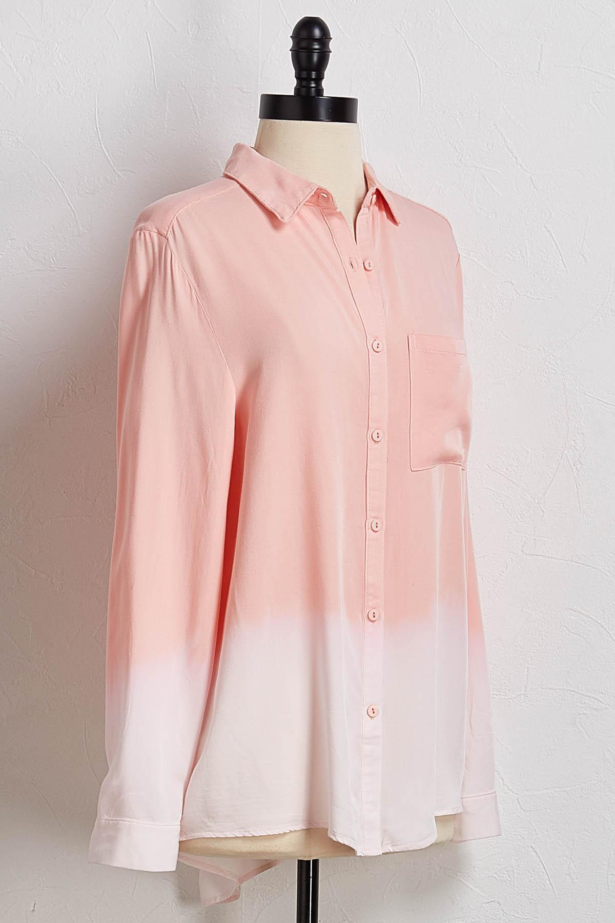 Pink Ombre Button Down Shirt