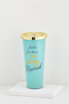 getting married tumbler