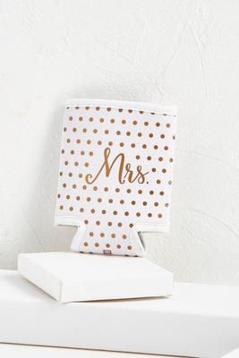 dotted mrs. koozie