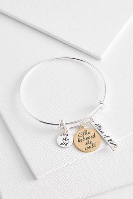 class of 2018 charm bracelet