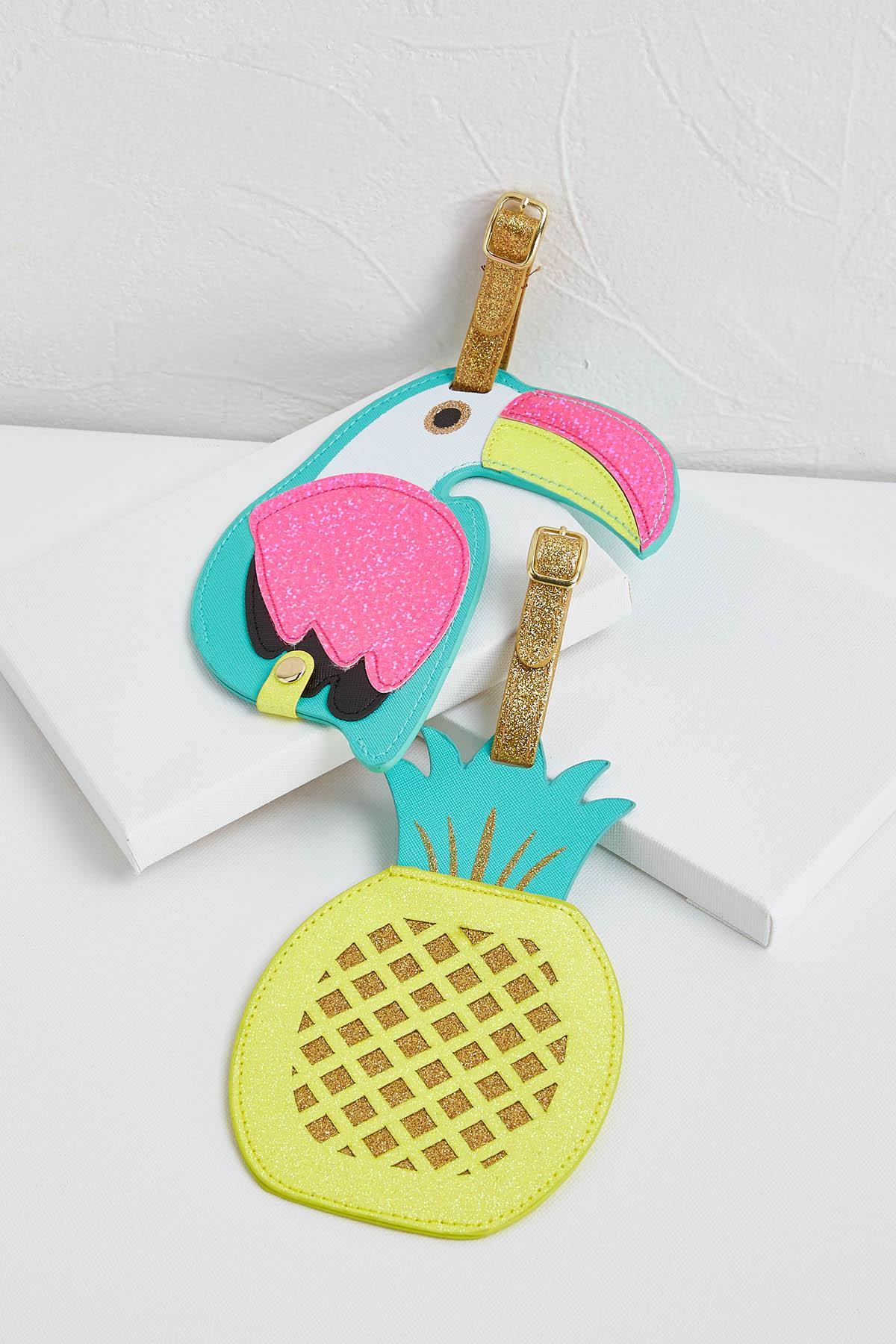 Toucan Pineapple Luggage Tags