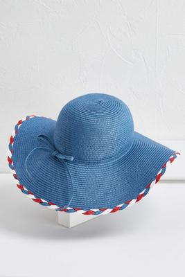 braided trim floppy hat