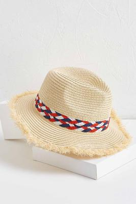 americana fringe straw hat