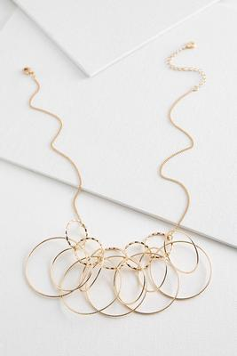 textured gold link necklace