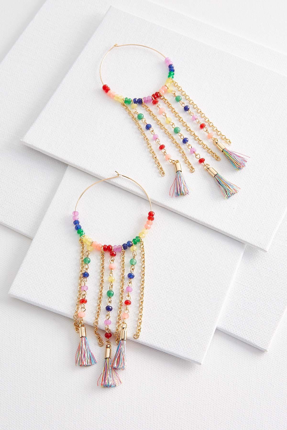 Rainbow Dream Catcher Earrings