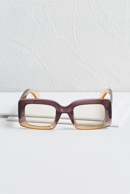 gradient square sunglasses