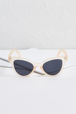 sheer cat eye sunglasses