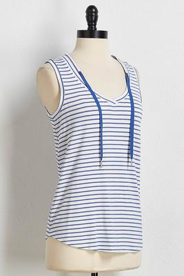 striped drawstring tank