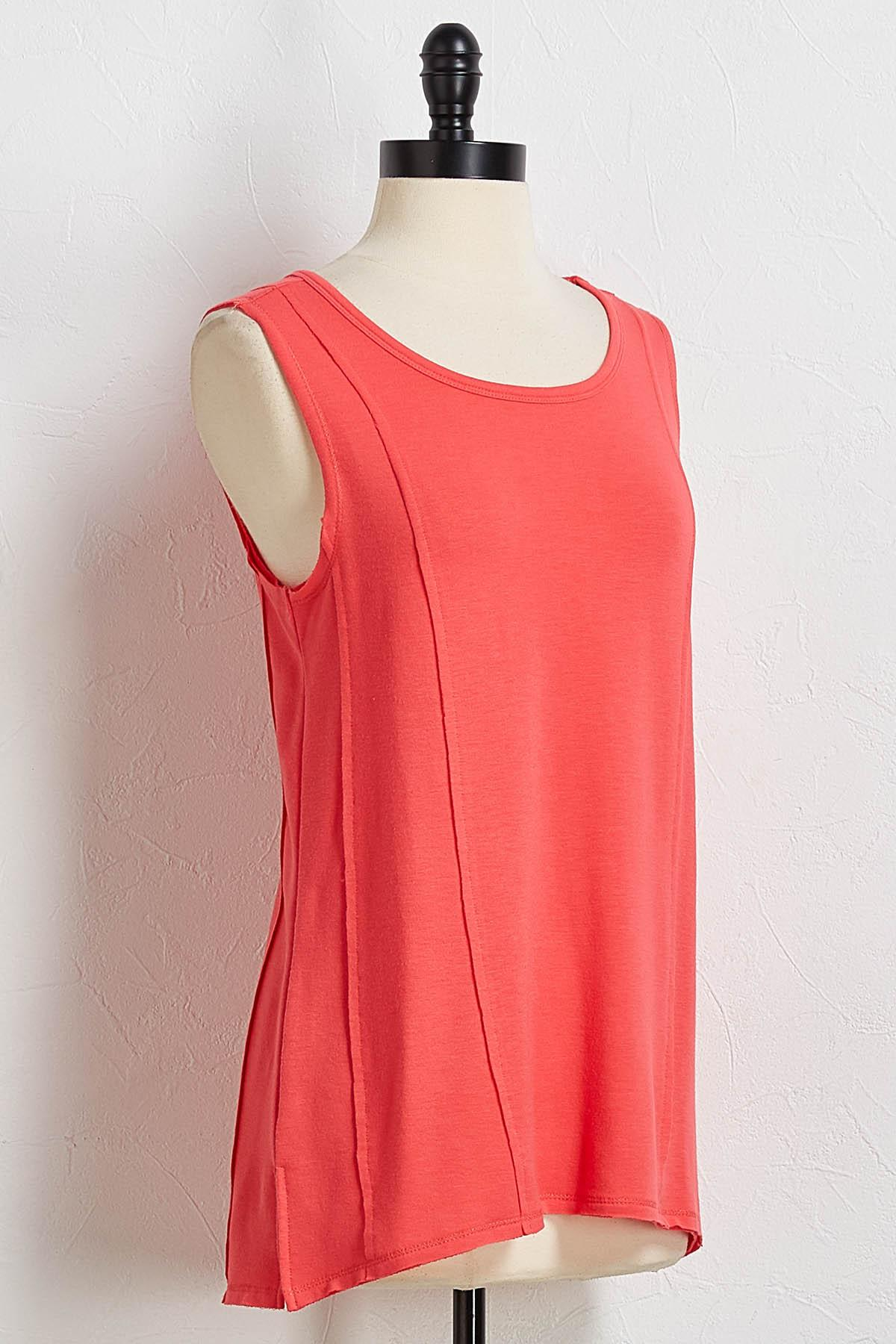 Solid Raw Edge Tank