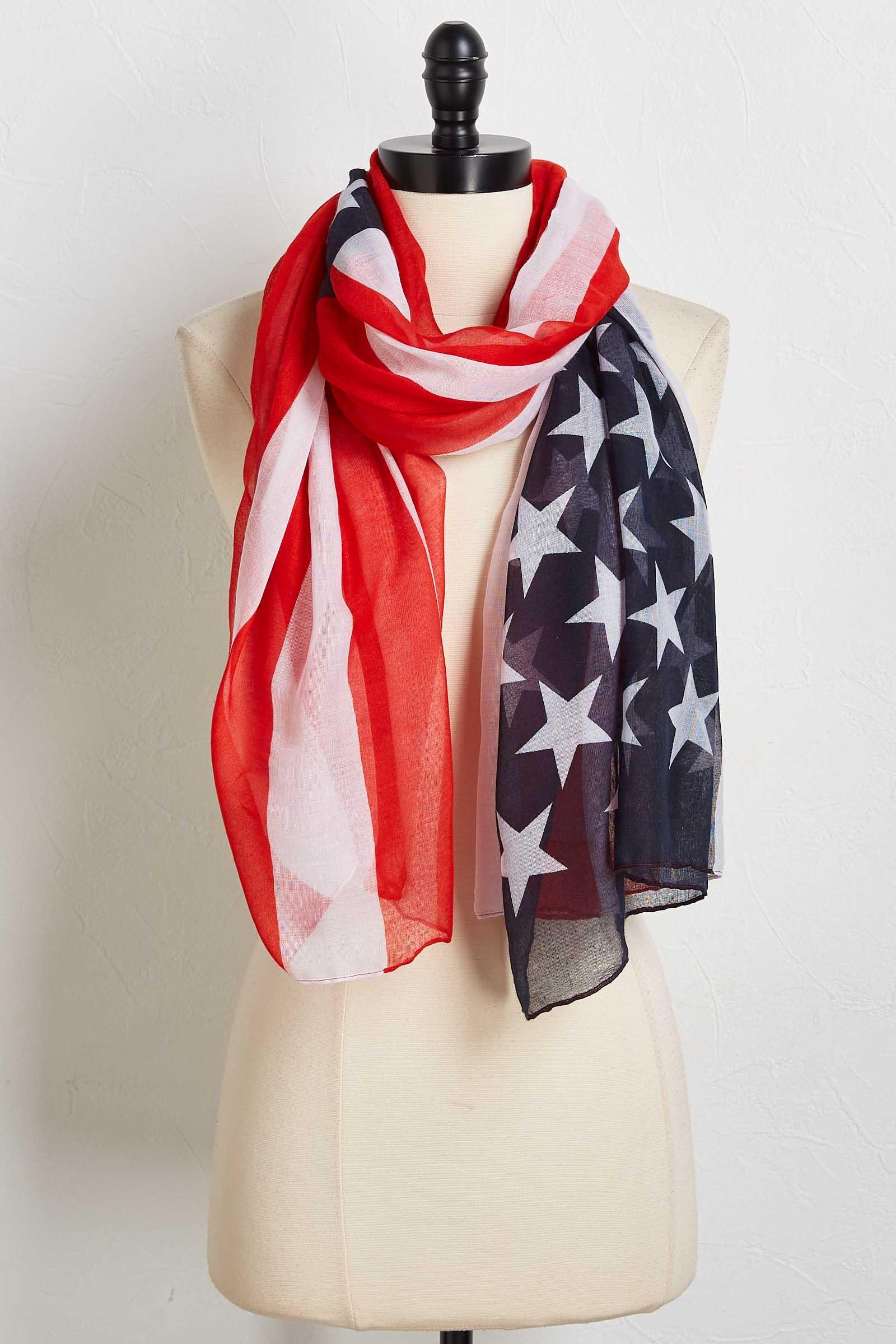 Stars And Stripes Oblong Scarf