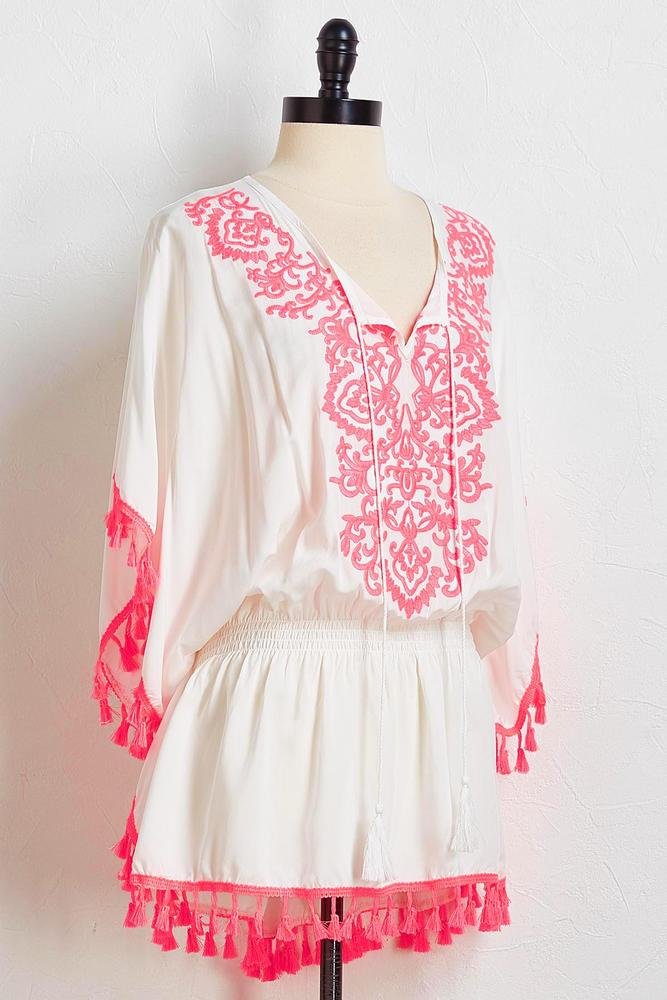 Pink Tasseled Cover- Up