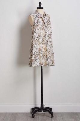 garden floral tunic top