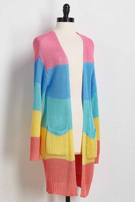 colorblock stripe cardigan