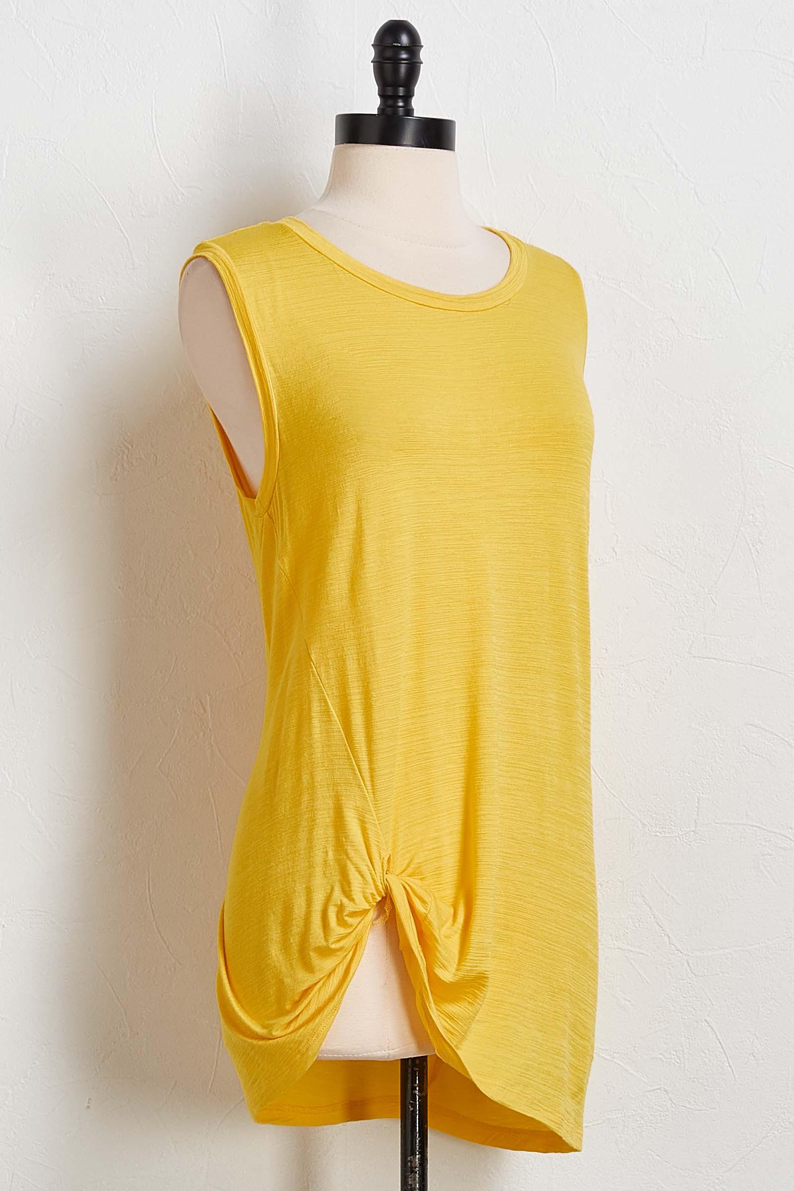 Yellow Side Tuck Tank