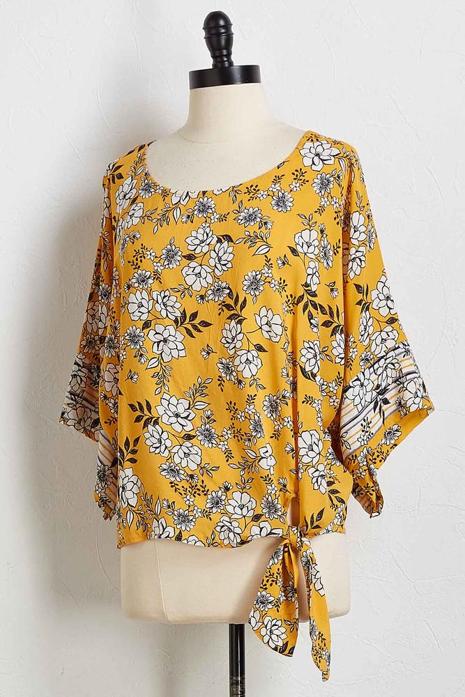 Floral Border Kimono Top