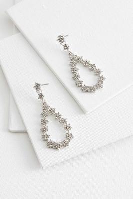 floral tear shaped earrings