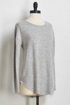 soft heather gray tunic