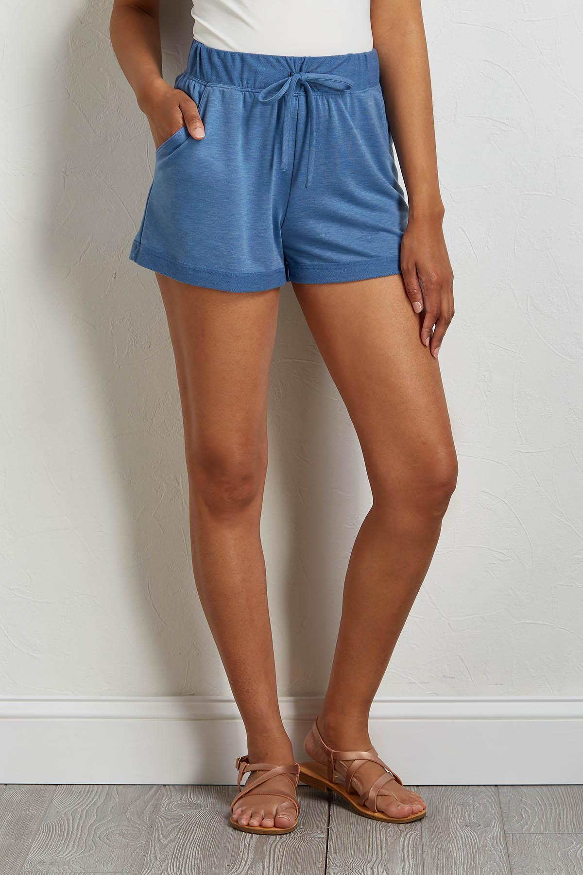 French Terry Drawstring Shorts