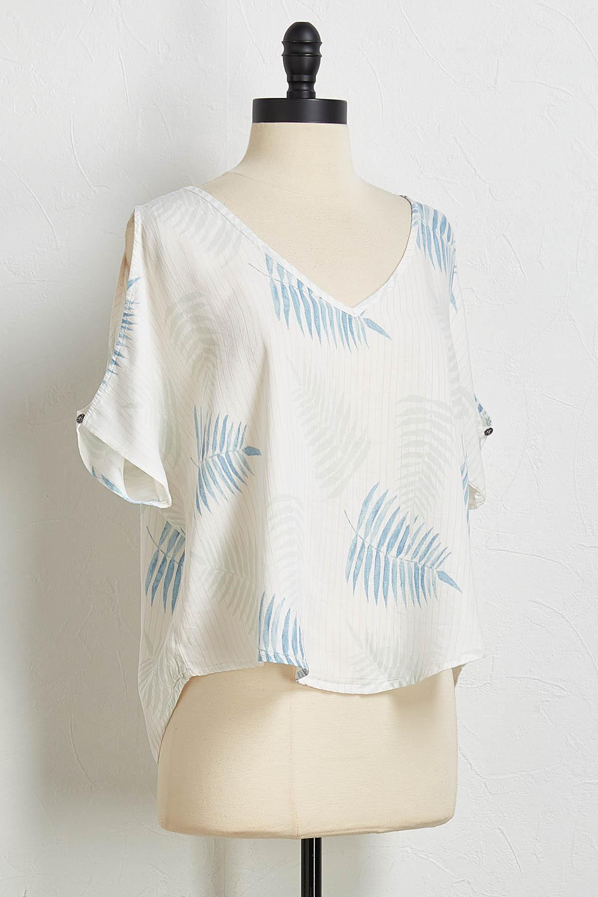 Mixed Print Bare Shoulder Top