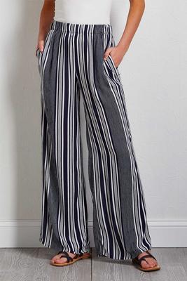 color stripe palazzo pants