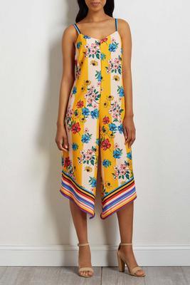 floral stripe genie jumpsuit
